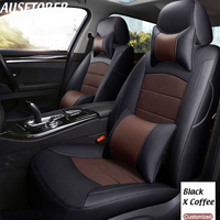 AUSFTORER Custom Leather Seat Covers for Mercedes Benz GLC 200 300 260 220d 250d Seat Cover Set Car Seats Protectors Accessories