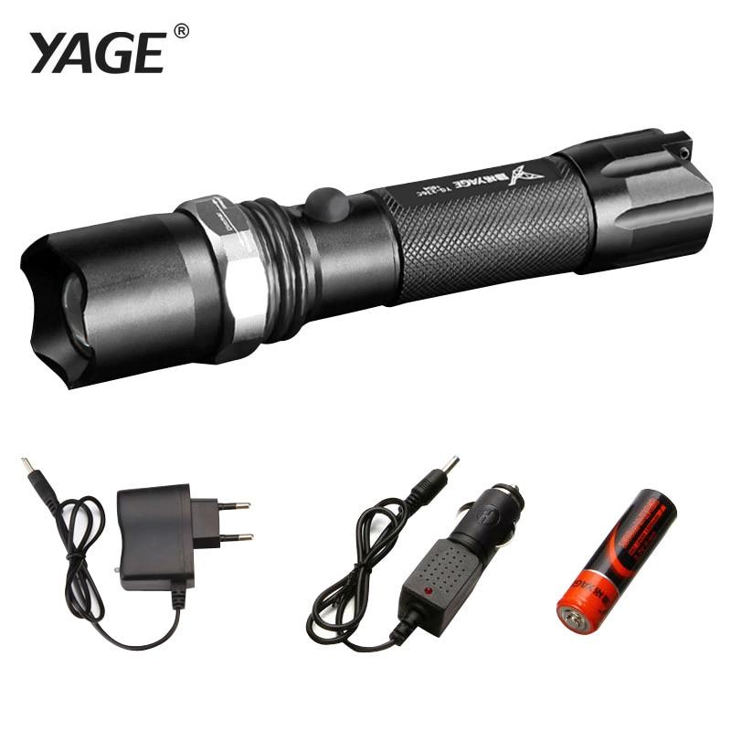 YAGE 336C Rechargeable 18650 lampe de poche cree Led lampe de Poche Torche Lanterna Torche Lampe Lanterne lampe de poche Zoomables Flash