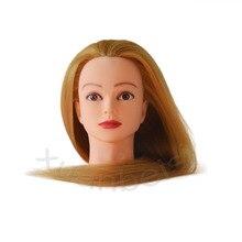 24 100% High Temperature Fiber Golden Hair Manequin Head For Sale Tete a coiffer professionnelle Maniqui Cabeza Mannequin