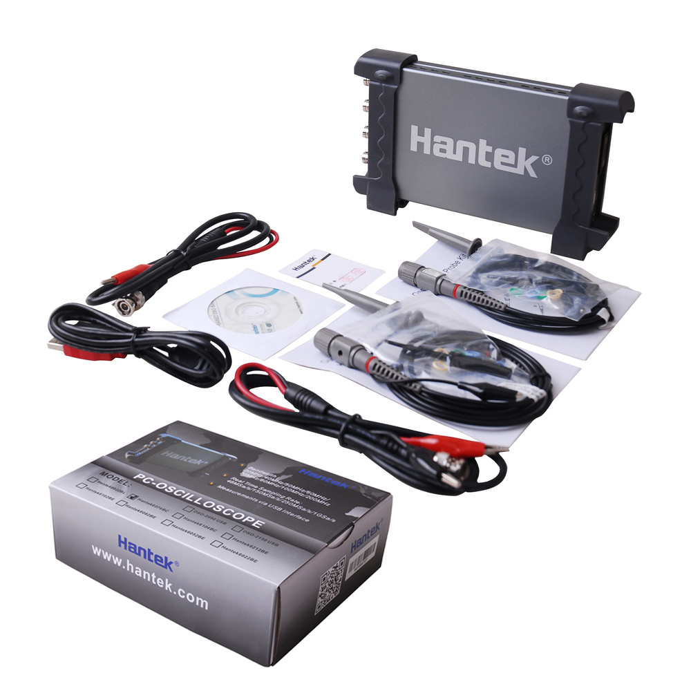 Hantek 6074BC 70MHz Digital Multimeter Oscilloscope Logic Analyzer USB Tester 4 Channel Car Detector Free Shipping