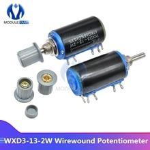WXD3-13-2W Сопротивление потенциометра с проволочной обмоткой 5% линейный роторный регулятор потенциометра крышка 100R 470R 1K 4,7 K 10K 22K 47K 100K Ом