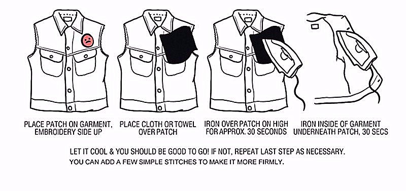 how to iron on embroidery patches