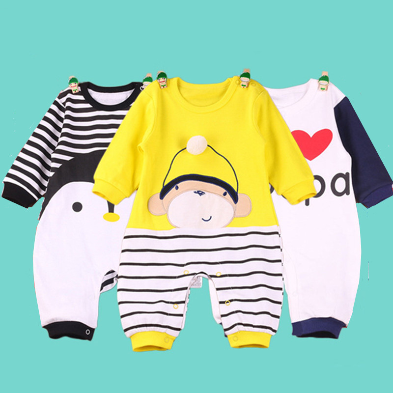 2016 autumn Newborn Baby Rompers Fashion Cotton Infant Jumpsuit Long Sleeve Girl Boys Rompers Costumes Baby clothes winter warm thicken newborn baby rompers infant clothing cotton baby jumpsuit long sleeve boys rompers costumes baby romper