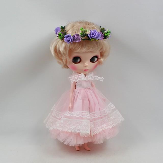 ICY Neo Blythe Doll Golden Curly Short Hair Regular Body 30cm