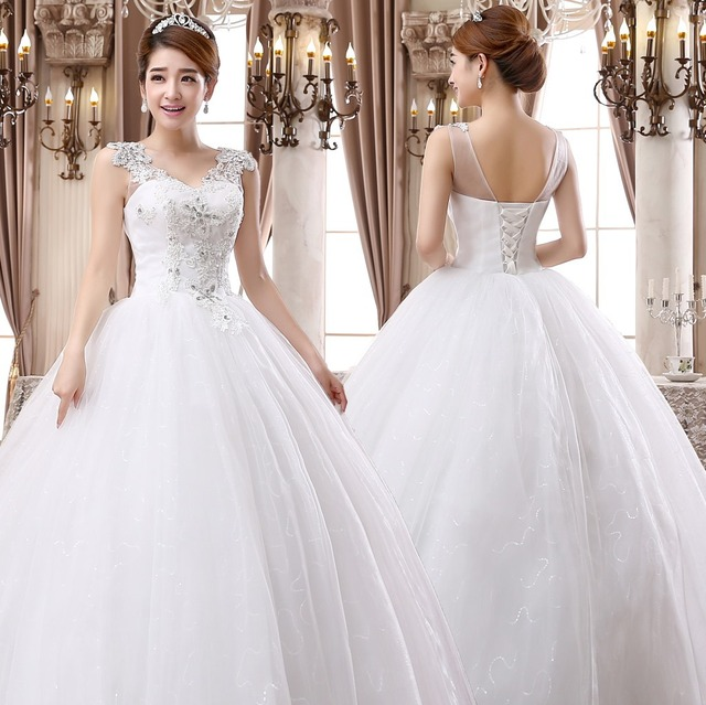 Beautiful house 2014 new wedding dress wedding Korean word shoulder waist  size wedding Qi D39 in pregnant women 2e7d6a231678