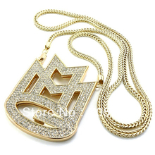 NEW ICED OUT MAYBACH MUSIC GROUP MMG PENDANT & 36″ FRANCO CHAIN NECKLACE FREE SHIPPING