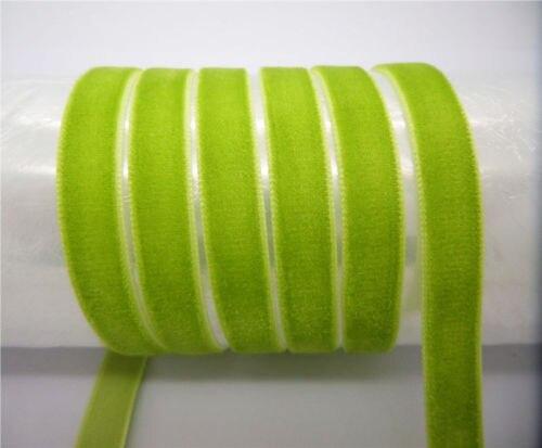 """DIY 5 ярдов 3/"""" 10 мм мягкая удобная бархатная лента много цветов на выбор - Цвет: army green"""