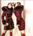 Mujeres de lujo de la Marca de La Chaqueta 2016 Chaqueta de Invierno Mujeres Abajo parka de piel de conejo Mapache Downs Chaquetas Abajo Outwear abrigo