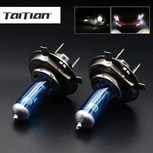 Taitian 2Pcs 55W 6000K 12V auto h4 lamp H1 H3 H4 h7 halogen lamp H11 fog light 9005 HB3 Car Xenon Halogen H1 Headlight Bulbs