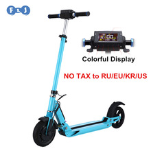 USA 8 Corp All FLJ Electric Scooter with Colorful Display 8inch Wheels Easy folding E-Scooter Electric Bicycle Skateboard for Adult or Children