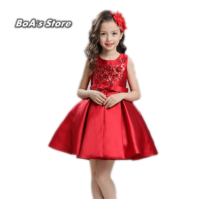 Princess Flower Girl Full Dress Summer 2017 Wedding Birthday Party Dresses For Girls Children's Costume Teenager Prom Designs flower girl dresses for kids new girls summer full dress for party and wedding teenagers sundress fancy clothes princess costume