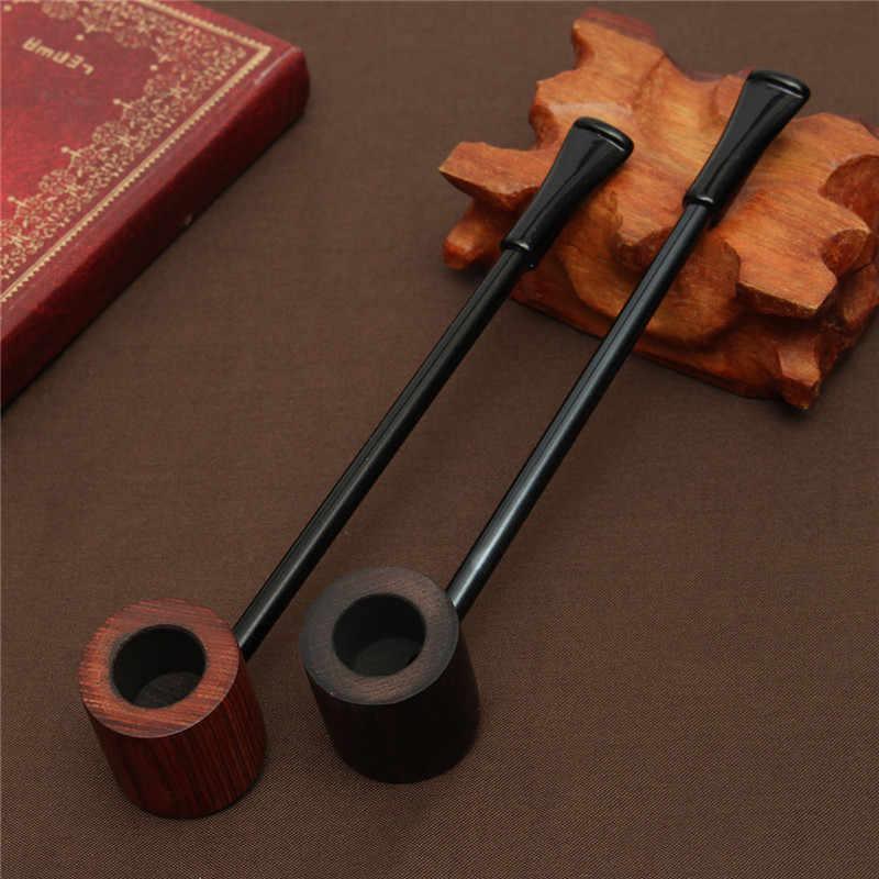 黒檀木製パイプ喫煙パイプポータブル喫煙パイプたばこパイプグラインダー煙ギフト黒/コーヒー 2 色