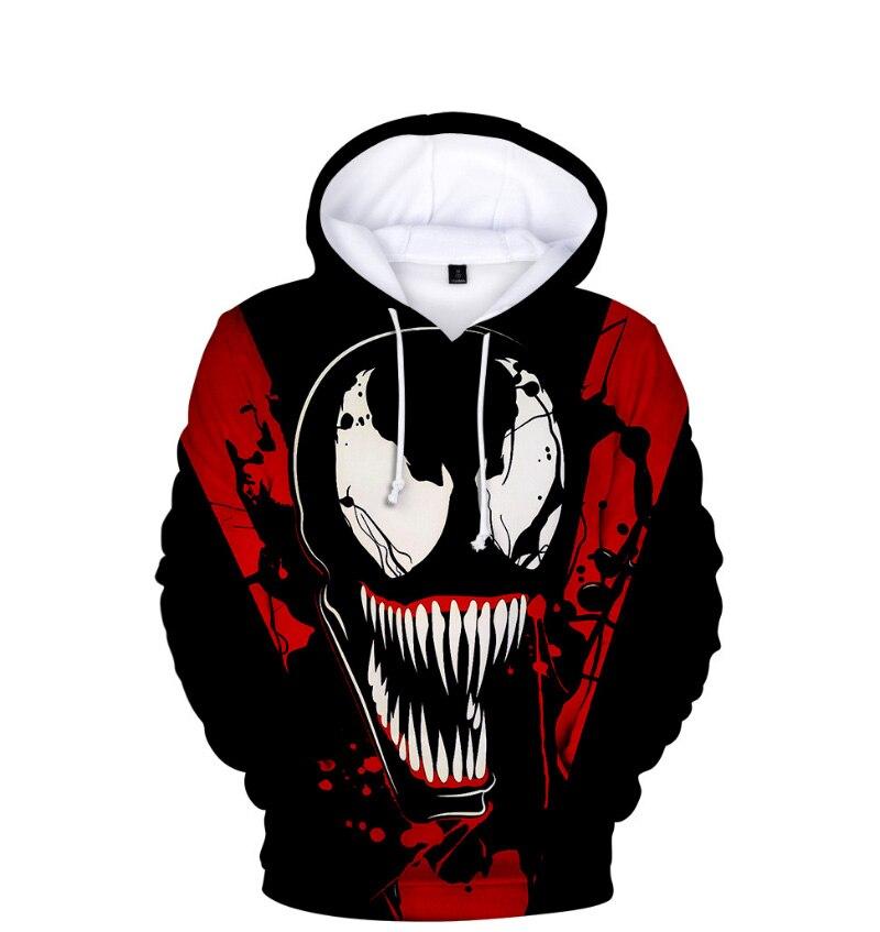 Comic Venom Hoodie Sweatshirts Men Superhero Anime Cool Black Autumn Winter Tops Plus Velvet Warm Hoody Couple Hip Hop Pullovers (11)