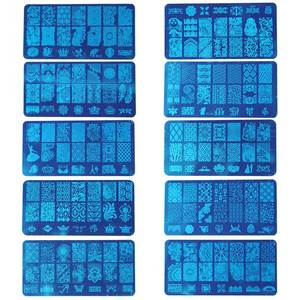Image 3 - ROSALIND pieczątka do stemplowania paznokci skrobak Stamper z szablonem Cap wszystko do manicure Top żelowy stempel do zdobienia paznokci