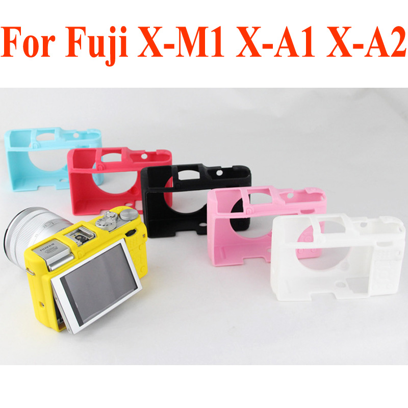 Soft Silicone Rubber Camera Protective Body Cover Case Skin for FujiFilm Fuji X-M1 X-A1 X-A2 XM1 XA1 XA2 DSLR Camera Bag