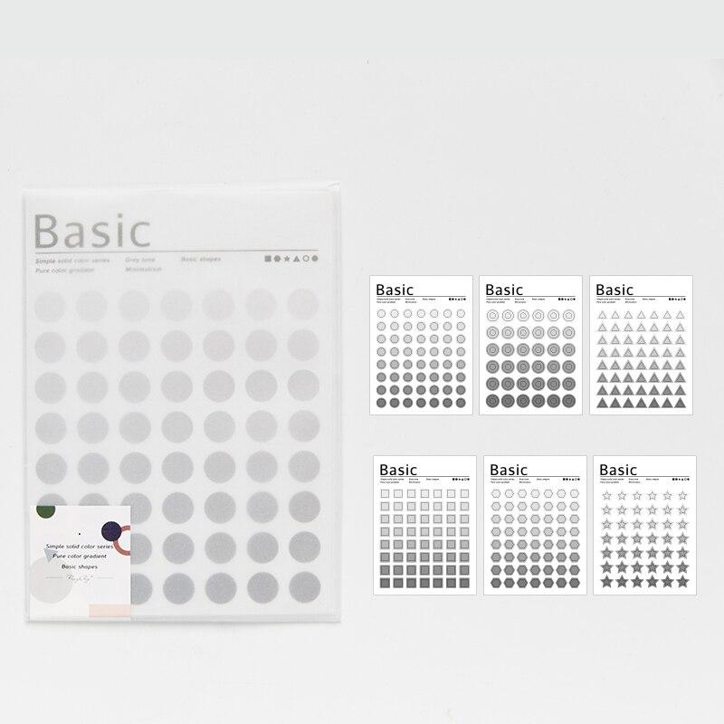 Mohamm Kawaii базовый материал Dot серия Милая наклейка на заказ s дневник стационарные хлопья скрапбук DIY декоративная наклейка s - Цвет: B