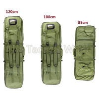 Tactical Hunting 80/100/120cm Padded Carbine Rifle Airsoft Gun Case Bag Fishing Rod Boxes Black Green Carbine Case Accesories