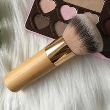 1 pc Tart Makeup Brush Bamboo Color Foundation Brush Powder Blush Blending Sculpting Brush Make up Brush Cosmetic Tool