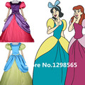 Cinderella adult halloween costumes for women Evil Sisters costume cosplay party Purple green dress custom wholesale