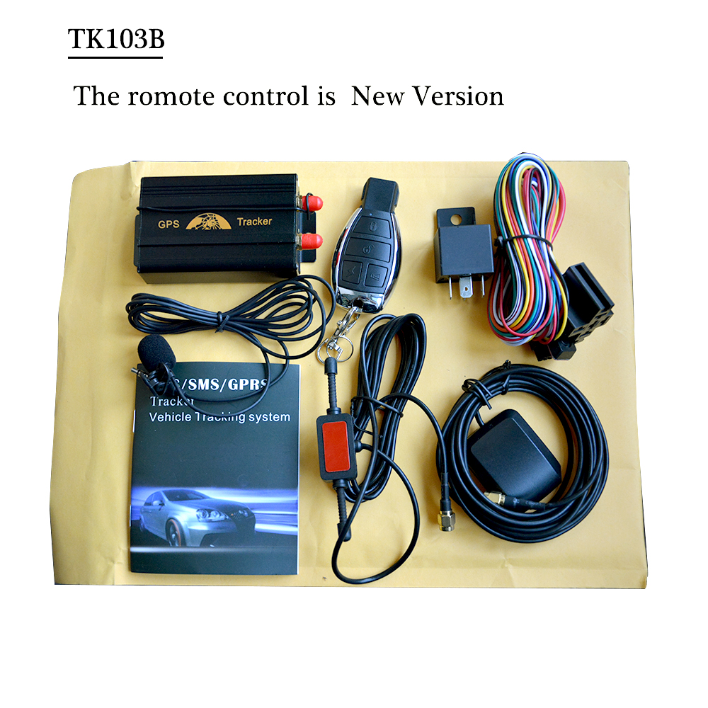 Vehicle Car GPS Tracker 103B with Remote Control GSM Alarm SD Card Slot Anti-theft/car alarm system Wholesale Without Retail Box