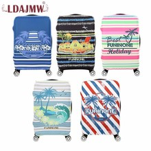 Купить с кэшбэком LDAJMW Hot Sale Travel Luggage Suitcase Protective Covers Elastic Suitcase Cover For Trunk Case Apply To 18-32inch