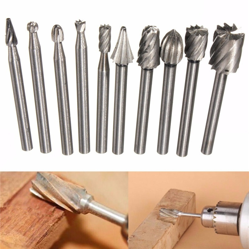 High Speed HSS Routing Router Bits Burr Rotary Tools Suit For Dremel Rotary Tool Engraving Wood Working Tools Attachment