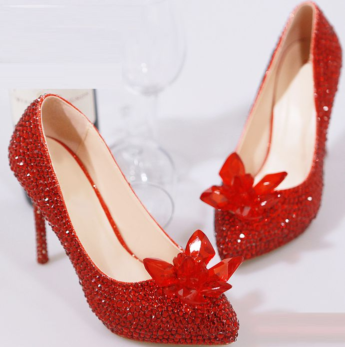 Здесь можно купить  11CM thin high heels fashion rhinestones party pumps shoes for woman TG488 women