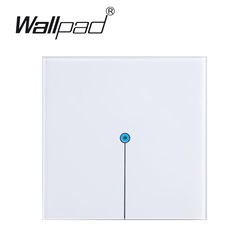 Wallpad 1 gang 1 way White Crystal Glass touch light switch,LED light switch touch 110V~220V, Free Customize LOGO,Free Shipping