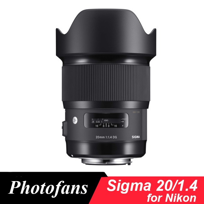 Sigma 20mm f/1.4 DG HSM Art Lens for nikon компьютер acer veriton es2710g intel core i3 7100 ddr4 4гб 128гб ssd intel hd graphics 630 windows 10 professional черный [dt vqeer 029]