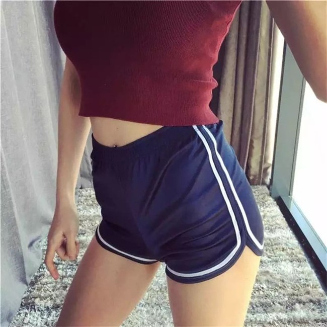 HTB1ewgTMVXXXXcDXpXXq6xXFXXXb - Glossy Shorts Slim Sexy Short Cotton Elastic High Waist Shorts For Women PTC 181