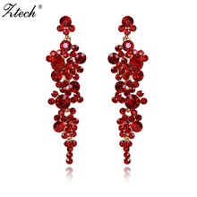 Ztech Long Accessories New Earrings For Women Maxi Design 4 Colors Pendantes Christmas Drop Crystal Earring Gift Brincos Jewelry