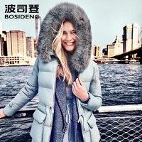 BOSIDENG 2017 women down coat X LONG winter thickening down jacket real fox fur warm outwear B1601246