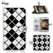 Tartan Check Pattern Cases For Huawei Mate 8 6 inch Case Book Style PU Leather Wallet Case Flip Stand Phone Bag Case Cover