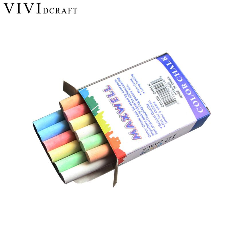 Vividcraft 12pcs/Box Teacher Chalk Office Schools