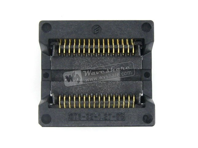 module Waveshare OTS-32-1.27-05 Enplas IC Test Socket Programming Adapter 9.53mm Width 1.27mm Pitch for SOP32 SO32 SOIC32 Packag sop8 to dip8 programming adapter socket module black green 150mil
