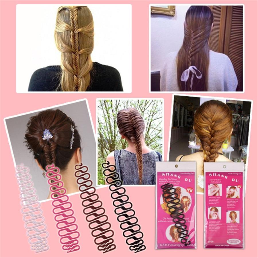 2vnt Plaukų stiliaus įrankiai Pynimo Braid Plaukų Braider įrankis Plaukų stilius Magic Twist Bun Maker Plaukų ritinėlis Priedai Grožio įrankiai