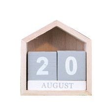 hot deal buy european calendar ornaments wooden crafts figurines decoration crafts durable calendar miniatures home office desk decor gifts