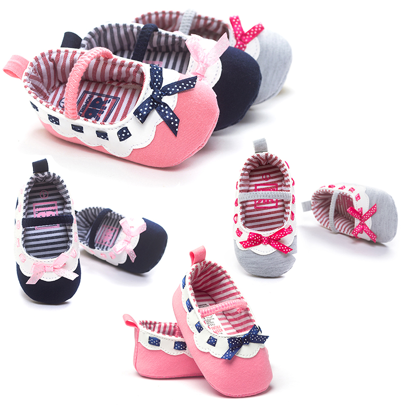 Cotton fabric baby girls boys sneakers shoes butterfly knot baby first walkers newborn infantil bebe shoes