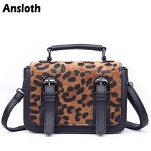 ee33545cdc Ansloth Winter Fashion Velvet Tote Leather Bags For Women Tote Leopard  Handbag Women s Shoulder Bags Stripe