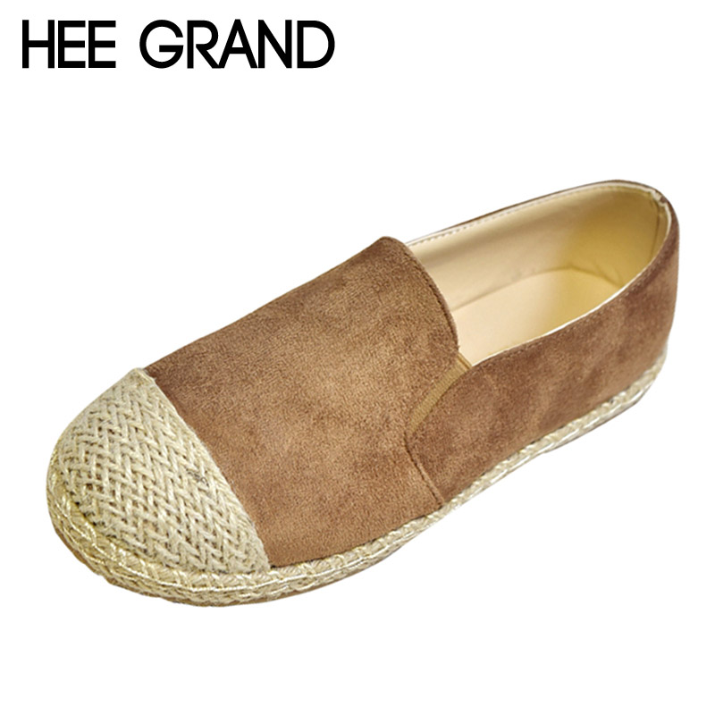 HEE GRAND 2017 New Casual Loafers Patchwork Creepers Platform Fisherman Shoes Woman Slip On Straw Women Flats Shoes XWD5770 phyanic crystal shoes woman 2017 bling gladiator sandals casual creepers slip on flats beach platform women shoes phy4041
