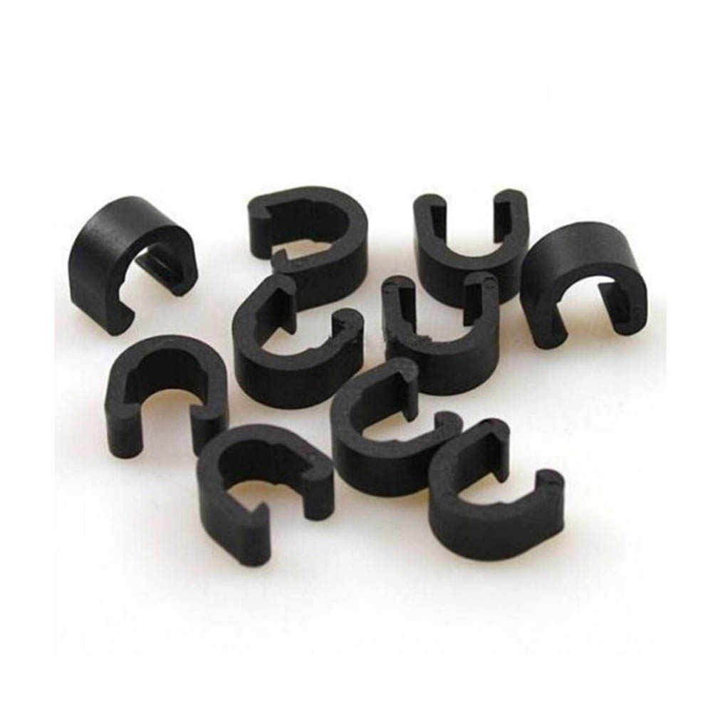 50Pcs S Buckle Mouain Road Bicycle  Brake Cae Sets Pipe Line Accessories Black