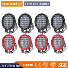 185W 9Inch Car Led Driving Work Light 12V 24V Off road 4WD 4x4 Led Truck lights 185W Led Spotlight 4x4 4wd SUV Offroad lamp x8pc