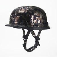 VOSS Harley WWII Style Open Face Half Leather Helmet Harley Moto Motorcycle Helmet Vintage Motorcycle Motorbike