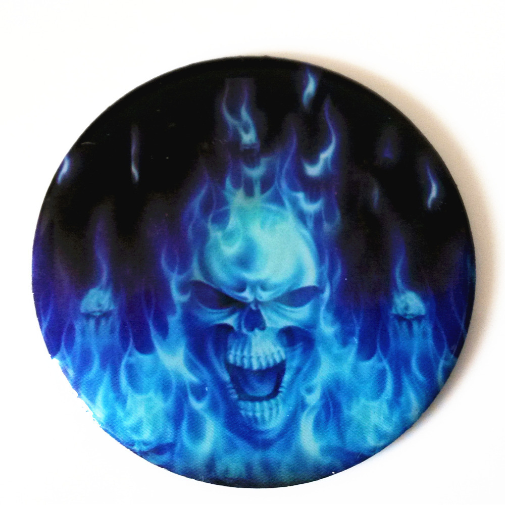 Motorcycle Flaming Blue Flame Skull Demon Set Decals Stickers For Mail Fenders Mirrors Trunk License Plate Frame Body Helmet Decal China Decal Car Stickersstickers And Decals Aliexpress