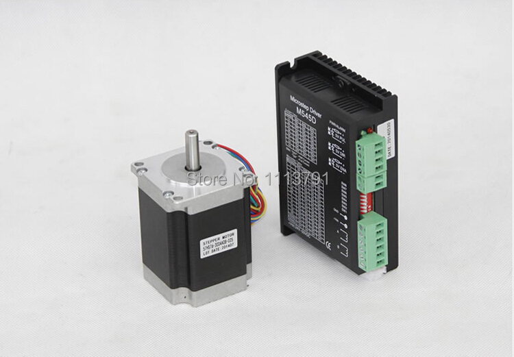 Two-phase 4-wire stepper drive M545D +Stepper motor , use for CNC Router Rotational Axis 57 series motor drive two phase stepper motor for single axis output engraving machine 3d printing motor 57hs10044a4 l100