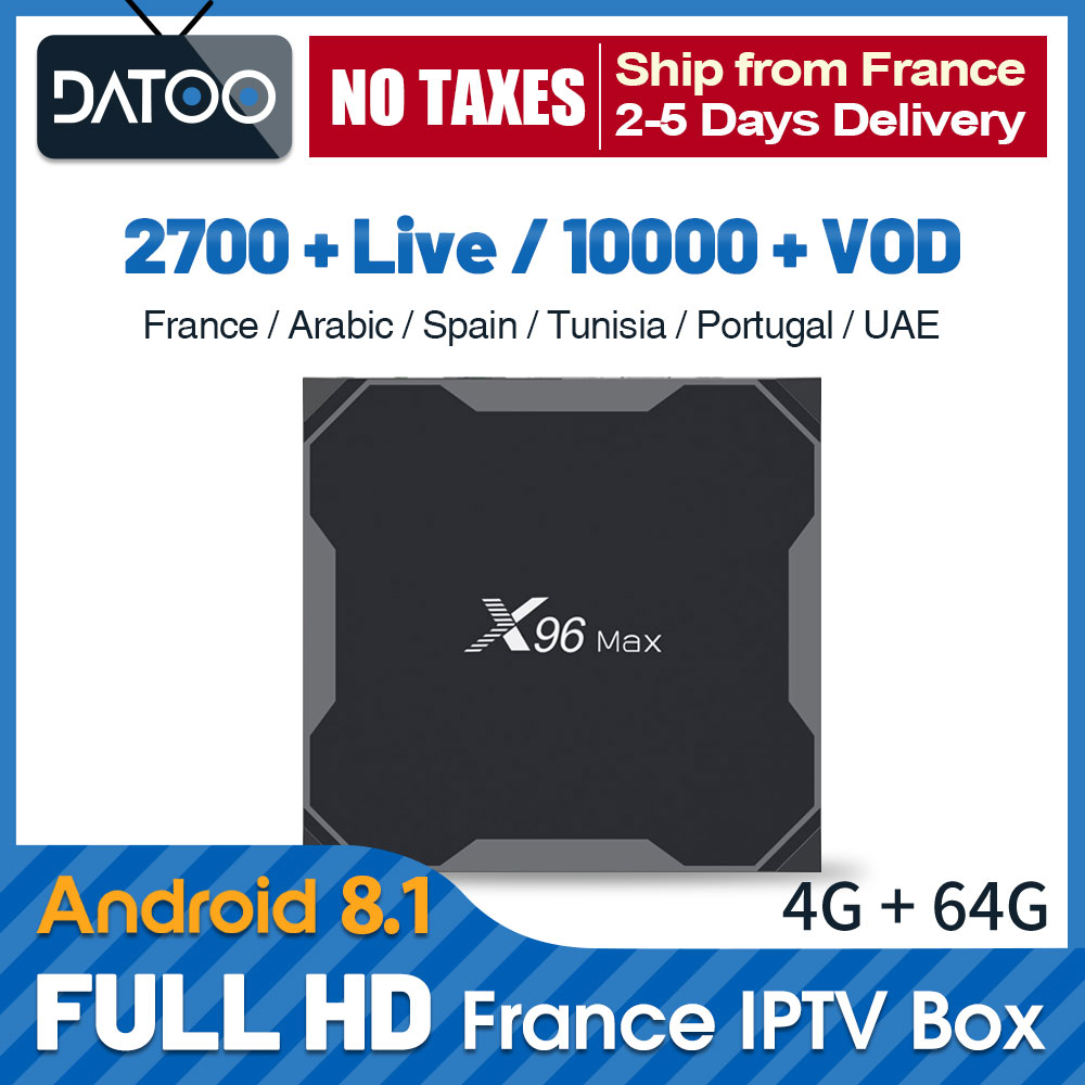 IPTV France Arabic Qatar IPTV Spain Portugal UAE IPTV Subscription X96 Max TV BOX 64GB Turkey Germany France IP TV Italy Algeria-in Set-top Boxes from Consumer Electronics