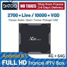 IPTV France Arabic Qatar Spain Portugal UAE Subscription X96 Max TV BOX 64GB Turkey Germany IP Italy Algeria