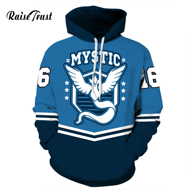 Raise Trust Sweatshirts Men 3d Print Mystic wing Harajuku Hoodies Palace Women Street Wear Pullover Hoody Jacket Pokemon Hip Hop