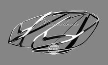 Car Styling Stickers Chromed Head Light Lamp Cover Trim For Ford Mondeo Fusion 2013
