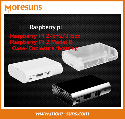 Fast Free Ship 20pcs For Raspberry Pi 2/b+2/3 Box Raspberry Pi 2 Model B Case/Enclosure/housing